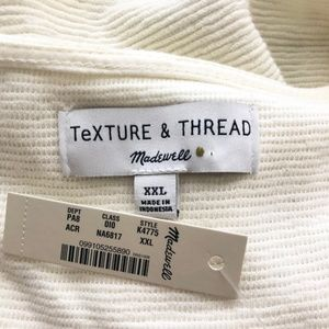Madewell Tops - NEW Madewell Texture And Thread 2X Tie Front Top